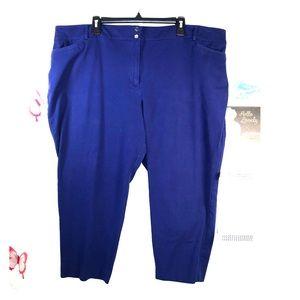 Apt. 9 Sz 22W blue ankle pants with stretch